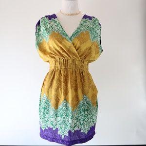 P. Luca Milano Flowy Bohemian Pattern Dress M